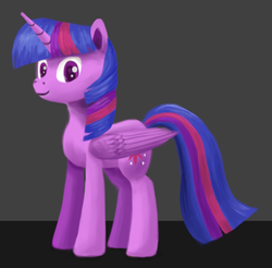 Size: 850x836 | Tagged: alicorn, artist:sycreon, female, gray background, mare, pony, safe, simple background, solo, twilight sparkle, twilight sparkle (alicorn)