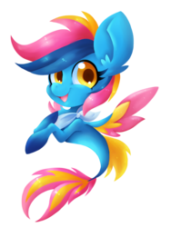 Size: 1200x1600 | Tagged: safe, artist:blazemizu, oc, oc only, oc:lightning moon, pony, seapony (g4), female, seaponified, simple background, solo, species swap, transparent background