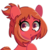 Size: 700x700 | Tagged: safe, artist:turtlefarminguy, earth pony, pony, :o, blushing, cute, female, looking at you, mare, my hero academia, ochako uraraka, open mouth, ponified, quirked pony, simple background, solo, transparent background, wide eyes