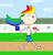 Size: 946x979   Tagged: safe, artist:04startycornonline88, rainbow dash, human, female, humanized, running, solo