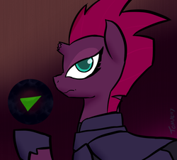 Size: 800x720 | Tagged: safe, artist:tomazii7, tempest shadow, pony, unicorn, my little pony: the movie, 30 minute art challenge, broken horn, female, horn, mare, orb, solo