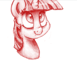 Size: 746x637 | Tagged: artist:fatalqueef, monochrome, pony, safe, solo, twilight sparkle