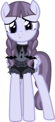 Size: 905x1986 | Tagged: safe, artist:davidsfire, inky rose, pegasus, pony, honest apple, clothes, cute, female, inkybetes, looking at you, mare, pigtails, simple background, solo, transparent background, vector, worried