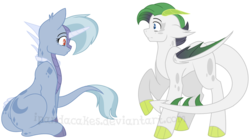 Size: 1600x896 | Tagged: artist:ipandacakes, dracony, hybrid, interspecies offspring, oc, oc:blue moonstone, oc only, oc:tanzanite, offspring, parent:rarity, parent:spike, parents:sparity, safe, simple background, story included, transparent background