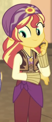 Size: 347x808 | Tagged: safe, screencap, sunset shimmer, equestria girls, movie magic, spoiler:eqg specials, cropped, female, india movie set, solo, sunshim