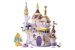 Size: 1600x1059   Tagged: safe, philomena, princess celestia, storm king, phoenix, pony, my little pony: the movie, blind bag, cake, canterlot castle, food, friendship is magic collection, merchandise, toy