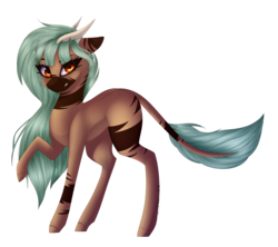 Size: 4500x4000 | Tagged: absurd res, artist:crazllana, earth pony, female, horns, mare, oc, oc:forest keeper, oc only, pony, safe, simple background, solo, transparent background