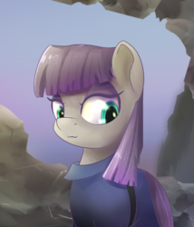 Size: 900x1050 | Tagged: safe, artist:klemm, maud pie, pony, atg 2017, female, newbie artist training grounds, smiling, solo, when she smiles
