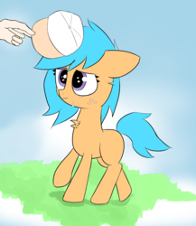 Size: 1300x1500 | Tagged: safe, artist:otherdrawfag, oc, oc only, oc:anon, oc:little league, human, crying, female, filly