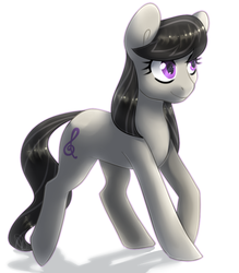 Size: 625x714 | Tagged: safe, artist:tigra0118, octavia melody, earth pony, pony, female, mare, simple background, smiling, solo, white background