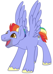 Size: 983x1380   Tagged: safe, artist:darkodraco, bow hothoof, pegasus, pony, bowabetes, cute, male, open mouth, simple background, smiling, solo, spread wings, stallion, transparent background, unshorn fetlocks, wings