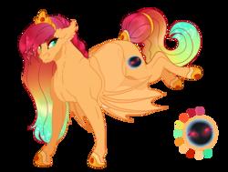 Size: 1050x793 | Tagged: safe, artist:bijutsuyoukai, oc, oc only, oc:eclipse, bat pony, pony, female, magical lesbian spawn, mare, offspring, parent:princess celestia, parent:sunset shimmer, parents:sunsestia, simple background, solo, transparent background