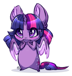 Size: 1977x2083 | Tagged: safe, artist:kez, twilight sparkle, alicorn, big ears, chibi, cute, ear fluff, female, simple background, sketch, solo, starry eyes, transparent background, twiabetes, twilight sparkle (alicorn), weapons-grade cute, wingding eyes