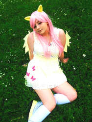 Size: 720x960 | Tagged: safe, artist:crystalfilth, fluttershy, human, clothes, cosplay, costume, irl, irl human, photo