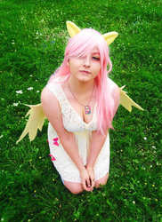 Size: 700x960 | Tagged: safe, artist:crystalfilth, fluttershy, human, clothes, cosplay, costume, irl, irl human, photo