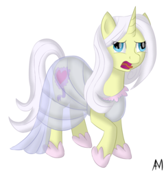 Size: 1500x1550 | Tagged: safe, artist:afterman, lily lace, pony, unicorn, bleh, clothes, derp face, disgusted, dress, female, mare, open mouth, shoes, simple background, solo, standing, tongue out, transparent background
