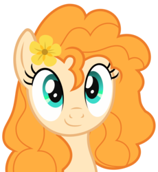 Size: 5000x5440 | Tagged: absurd res, artist:sollace, cute, pearabetes, pear butter, pony, safe, simple background, smiling, solo, .svg available, the perfect pear, transparent background, vector