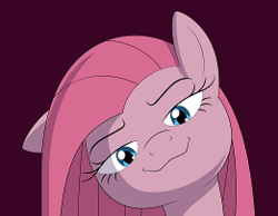 Size: 261x203 | Tagged: artist:culu-bluebeaver, bedroom eyes, cropped, earth pony, edit, female, looking at you, mare, pinkamena diane pie, pinkie pie, pony, safe, simple background, solo
