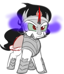 Size: 1509x1728   Tagged: safe, artist:binkyt11, derpibooru exclusive, king sombra, pony, unicorn, angry, chibi, cute, male, simple background, solo, sombradorable, stallion, white background