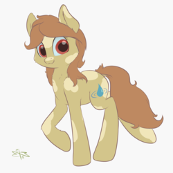 Size: 1800x1800 | Tagged: artist:malwinters, commission, earth pony, female, mare, oc, oc only, oc:rivulet, pony, safe, solo