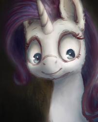 Size: 2058x2541 | Tagged: safe, artist:plotcore, rarity, pony, unicorn, bust, female, mare, newbie artist training grounds, portrait, solo