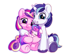Size: 1400x1100 | Tagged: safe, artist:bobdude0, princess cadance, princess flurry heart, shining armor, alicorn, pony, unicorn, baby, baby flurry heart, baby pony, cradling, cute, cutedance, daaaaaaaaaaaw, eyes closed, family, female, flurrybetes, happy, happy baby, holding a baby, holding a pony, infant, infant flurry heart, looking at you, male, mare, newborn, newborn baby, newborn baby flurry heart, newborn filly, newborn flurry heart, newborn infant flurry heart, parent, shining adorable, shiningcadance, shipping, simple background, sleeping, smiling, stallion, straight, tail wrap, transparent background