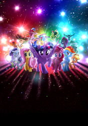 Size: 6111x8694   Tagged: safe, applejack, capper dapperpaws, captain celaeno, fluttershy, grubber, pinkie pie, princess skystar, queen novo, rainbow dash, rarity, songbird serenade, spike, storm king, tempest shadow, twilight sparkle, abyssinian, alicorn, dragon, earth pony, pegasus, pony, seapony (g4), unicorn, anthro, my little pony: the movie, absurd resolution, anthro with ponies, beauty mark, broken horn, cowboy hat, ear piercing, earring, female, hat, headworn microphone, horn, jewelry, male, mane six, mare, movie poster, piercing, pirate hat, poster, textless, textless version, twilight sparkle (alicorn)