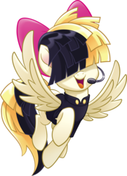Size: 2212x3047 | Tagged: safe, songbird serenade, pegasus, pony, my little pony: the movie, female, headworn microphone, high res, mare, microphone, sia (singer), simple background, solo, transparent background, vector