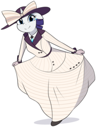 Size: 2292x3011 | Tagged: safe, artist:furrgroup, rarity, unicorn, anthro, ppov, clothes, commission, costume, curtsey, cute, dress, female, looking at you, mare, pose, raribetes, raristocrat, rose dewitt bukater, simple background, smiling, solo, titanic, white background