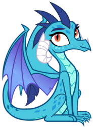 Size: 884x1199 | Tagged: safe, artist:sonofaskywalker, princess ember, dragon, triple threat, behaving like a bird, cute, dragoness, emberbetes, female, simple background, sitting, smiling, solo, transparent background, vector