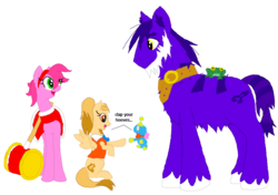 Size: 1024x721 | Tagged: safe, artist:spqr21, chao, frog, pony, amy rose, cheese chao, crossover, deviantart muro, froggy, piko piko hammer, ponified, simple background, sonic the hedgehog (series), transparent background