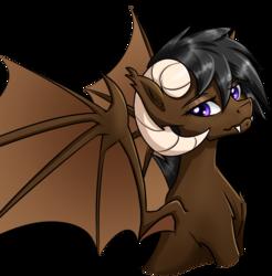 Size: 968x982 | Tagged: safe, artist:muggyheatwave, oc, oc only, oc:onyx quill, dracony, hybrid, kirin, original species, artist edit, bust, fangs, horns, wings