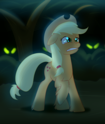 Size: 1166x1382 | Tagged: applejack, artist:hywther, atg 2017, danger, gritted teeth, natg, pony, raised hoof, safe, solo