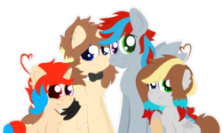 Size: 4430x2658 | Tagged: alicorn, artist:narmet, family, oc, oc only, oc:render blair, safe, simple background, transparent background, vector