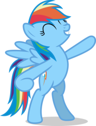 Size: 6000x7844 | Tagged: absurd res, artist:luckreza8, bipedal, pony, rainbow dash, safe, simple background, solo, standing up, .svg available, tanks for the memories, transparent background, vector