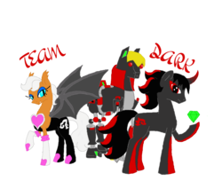 Size: 1024x837 | Tagged: artist:spqr21, chaos emerald, crossover, deviantart muro, e-123 omega, ponified, pony, robot, robot pony, rouge the bat, safe, shadow the hedgehog, sonic the hedgehog (series)
