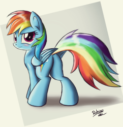 Size: 1200x1240 | Tagged: safe, artist:ruhisu, rainbow dash, pony, plot, solo