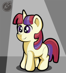 Size: 1580x1756 | Tagged: artist:moonlightfan, female, filly, filly moondancer, moondancer, plushie, pony, safe, solo