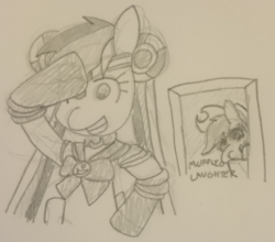 Size: 1716x1508 | Tagged: applejack, artist:threetwotwo32232, monochrome, newbie artist training grounds, pencil drawing, pony, rainbow dash, safe, sailor moon, traditional art