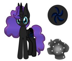 Size: 1441x1225 | Tagged: artist:magnesium--oxide, female, mare, oc, oc:nebula, oc only, offspring, parent:king sombra, parent:princess luna, parents:lumbra, pony, reference sheet, safe, unicorn