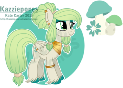 Size: 1024x735 | Tagged: safe, artist:kazziepones, oc, oc only, oc:daisy shroom, pegasus, pony, female, mare, mushroom, reference sheet, simple background, solo, transparent background