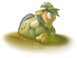 Size: 4000x3000 | Tagged: safe, artist:secretgoombaman12345, daring do, pony, ask chubby diamond, blushing, bound wings, chubby, comp-ass, daring dollop, fat, huge ass, large ass, mud, obese, plot, quicksand, simple background, solo, stuck, transparent background
