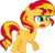 Size: 3116x3001 | Tagged: safe, artist:cloudyglow, sunset shimmer, pony, cute, female, filly, filly sunset shimmer, mare, open mouth, raised hoof, simple background, solo, transparent background, vector, younger