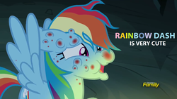 Size: 1920x1080 | Tagged: campfire tales, fly-der bite, pony, rainbow dash, safe, solo