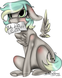 Size: 494x625 | Tagged: safe, artist:ohflaming-rainbow, oc, oc only, oc:freiheit, pegasus, pony, female, floating wings, i'm not cute, mare, simple background, sitting, solo, transparent background