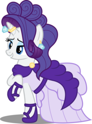 Size: 6419x8663 | Tagged: safe, artist:atomicmillennial, rarity, pony, unicorn, absurd resolution, clothes, dress, ear piercing, earring, eyeshadow, female, greece, horn ring, jewelry, makeup, mare, piercing, raised hoof, simple background, solo, transparent background, vector