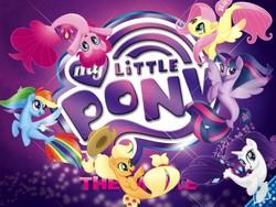 Size: 1500x1125   Tagged: safe, applejack, fluttershy, pinkie pie, rainbow dash, rarity, twilight sparkle, alicorn, seapony (g4), my little pony: the movie, cowboy hat, hat, logo, mane six, seaponified, seapony applejack, seapony fluttershy, seapony pinkie pie, seapony rainbow dash, seapony rarity, seapony twilight, species swap, that pony sure does love being a seapony, twilight sparkle (alicorn)
