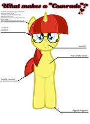 Size: 2400x3300 | Tagged: safe, artist:aaronmk, oc, oc only, oc:lefty pony, pony, unicorn, freckles, glasses, simple background, text, transparent background, vector