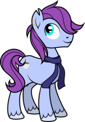 Size: 2215x3162 | Tagged: safe, artist:jitterbases, oc, oc only, oc:turquoise, earth pony, pony, clothes, high res, magical lesbian spawn, male, offspring, parent:pinkie pie, parent:sonata dusk, parents:pinata, scarf, solo, stallion