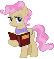 Size: 2900x3200 | Tagged: safe, artist:cheezedoodle96, mayor mare, earth pony, pony, the perfect pear, .svg available, book, clothes, female, looking at you, mare, non-dyed mayor, scarf, simple background, solo, svg, transparent background, vector, younger